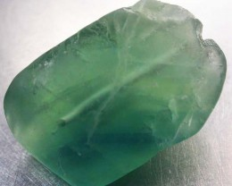 NATURAL LARGE  FLUORITE BEAD  -DRILLED 77.95 CTS [MX9783]