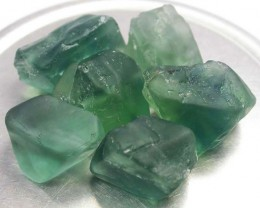 NATURAL FLUORITE BEADS PARCEL - DRILLED 282.65 CTS [MX9794]