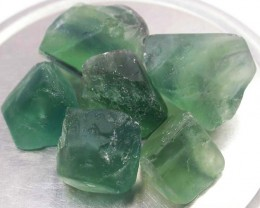 NATURAL FLUORITE BEADS PARCEL - DRILLED 310.45 CTS [MX9796]