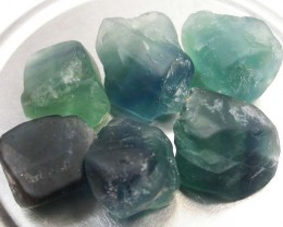NATURAL FLUORITE BEADS PARCEL - DRILLED 328.65 CTS [MX9797]