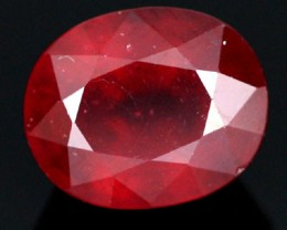 AFRICAN RUBY STONE BLOOD RED  5.60  CTS [S6014 ]