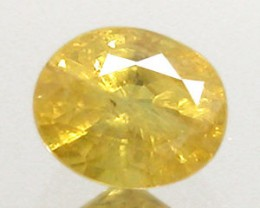 YELLOW SAPPHIRE .85 CARAT WEIGHT OVAL CUT GEMSTONE BEAUTY NR