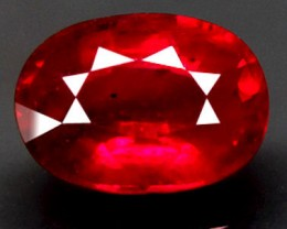 Superb earth mined Ruby, clarity enhanced.