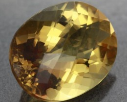 VVS LARGE CITRINE   ORANGE/YELLOW BRAZIL 30  CTS [S6 048 ]