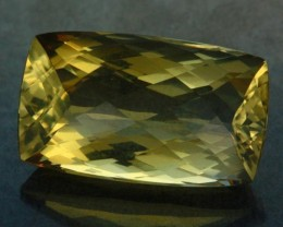 VVS LARGE CITRINE   ORANGE/YELLOW BRAZIL  27.65CTS [S6064  ]