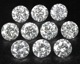NATURAL WHITE DIAMOND-3MMSIZE-0.10CTWSIZE-1OCTWLOT,
