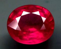 2.74 Carat VVS/VS Fiery Pinkish Red Ruby
