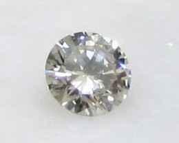 0.28ct 4.2 mm VS Untreated Natural Light Brown DIAMOND