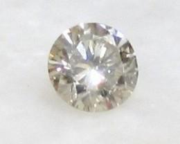 CERTIFIED 0.33ct 4.4mm Light Brown DIAMOND