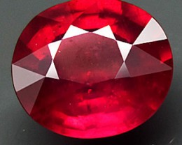 3.62 Carat VVS/VS Pinkish Red Ruby - Superb