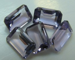 AMETHYST FROM BRAZIL 5 STONE PARCEL 4.25  CTS RADIANT CUT