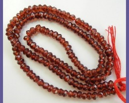 AA+ 3.50-4.00MM MOZAMBIQUE GARNET FACETED ROUNDEL BEADS