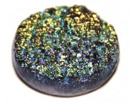 **WOW** Amazing Titanium coated DRUZY cabochon 162.80 cts