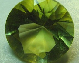 LEMON QUARTZ  1 STONE  3.10  CTS ROUND CUT