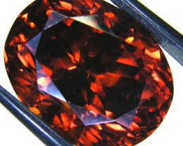 VVS1 RED ZIRCON COLLECTOR PC TANZANIA 18.45 CTS JM-15