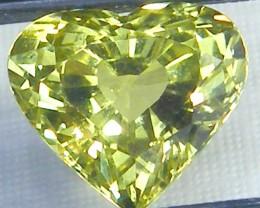 VVS1 CHRYSOBERYL HEART 4.38  CTS JM-20
