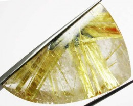 30.85 CTS GOLDEN RUTILATED QUARTZ 'STAR BURST'  [MX9963]