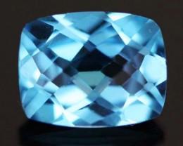 2.75 CTS VVS BLUE  TOPAZ  STONE CUSHION  CUT [S6180]
