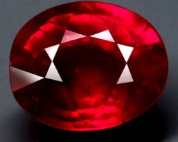 2.75 Carat Pinkish Red Ruby - VVS/VS - Superb