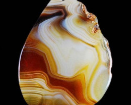 UNUSUAL NATURAL AGATE BEAD 58,00x49,00x4mm