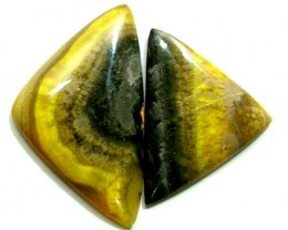BUMBLEBEE JASPER CABS (2PC) 25.35 CTS  PG-681