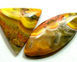 BUMBLEBEE JASPER CABS (2PC) 18.70 CTS PG-682