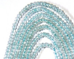 SALE FROM $50 3mm AAA Aquamarine beads 14