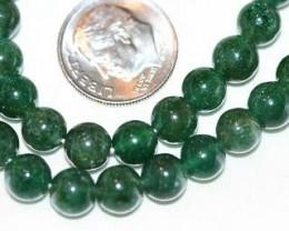 GREEN AVENTURINE BEADS - 125 CARATS