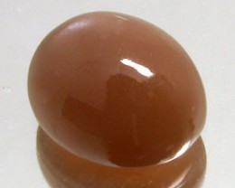 RUSTY BROWN MOONSTONE 4.80 CARAT WEIGHT OVAL CUT CABOCHON NR