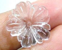 AA QUARTZ CRYSTAL FLOWER CARVING 12 CTS LT-228