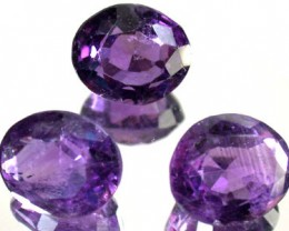 PARCEL 3PCS AMETHYST FROM AFGHANISTAN 21 CTS GW 1157