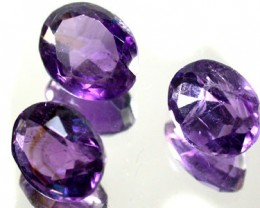 PARCEL 3PCS AMETHYST FROM AFGHANISTAN 19.6 CTS GW 1159