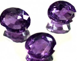 PARCEL 3PCS AMETHYST FROM AFGHANISTAN 21.5 CTS GW 1171