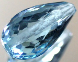 BLUE TOPAZ BEAD  PEAR SHAPE 3.95 CTS  GW 1477