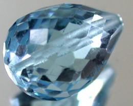 BLUE TOPAZ BEAD  PEAR SHAPE 4.15 CTS  GW 1479