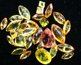 PARCEL FACETED YELLOW SAPPHIRES 5.70 CARATS GW 1662