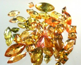 PARCEL FACETED YELLOW SAPPHIRES 6.20 CARATS GW 1665