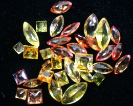 PARCEL FACETED YELLOW SAPPHIRES 5.90 CARATS GW 1668