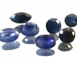 PARCEL FACETED BLUE SAPPHIRES 6.20 CARATS GW 1690