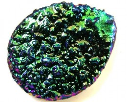COLOURFUL DRUSSY STONE   36CTS [MGW 494 ]