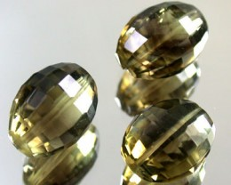 BI COLOUR BLACK & GOLD AMETERINE BEAD PARCEL  34 CTS GW 1801