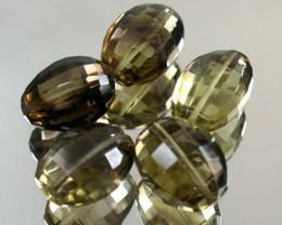 BI COLOUR BLACK & GOLD AMETERINE BEAD PARCEL  54CTS GW 1803