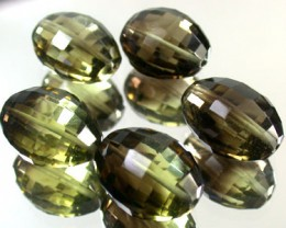 BI COLOUR BLACK & GOLD AMETERINE BEAD PARCEL 57  CTS GW 1805
