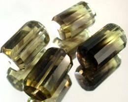 BI COLOUR BLACK & GOLD AMETERINE BEAD PARCEL 58  CTS GW 1811