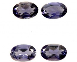 IOLITE FACETED STONE (4 PCS) 2 CTS  PG-1371