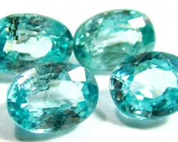 BLUE ZIRCON FACETED STONE (4 PCS) 5 CTS  PG-1149