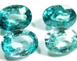 BLUE ZIRCON FACETED STONE (4 PCS) 5 CTS  PG-1150