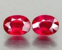 VERY NICE PAIR OF NATURAL RUBIS 2,33CTS