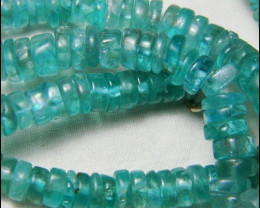 180cts AA+ Lovely Sea Blue/Green Apatite Beads Strand B757