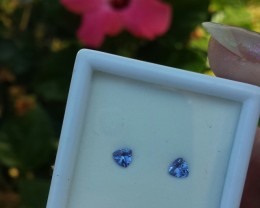 TANZANITE PARCEL .50 CARAT WEIGHT SET OF TWO TRILLION GEMS